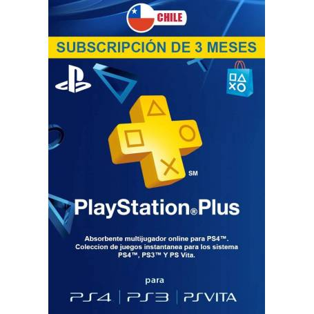 Playstation Plus 3 Meses (USA)