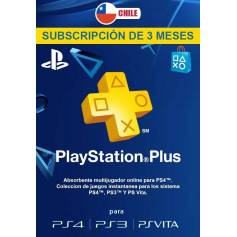 Playstation Plus 3 Meses (USA y CHILE)