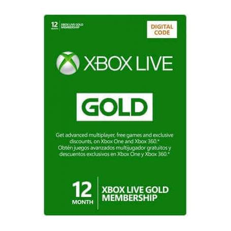 Membresía Xbox LIVE 12 Meses Gold