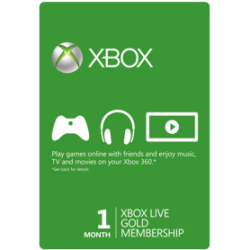 Membresía Xbox LIVE 1 Meses Gold (GLOBAL)